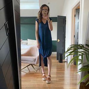 Anthropologie Blue Beach Dress